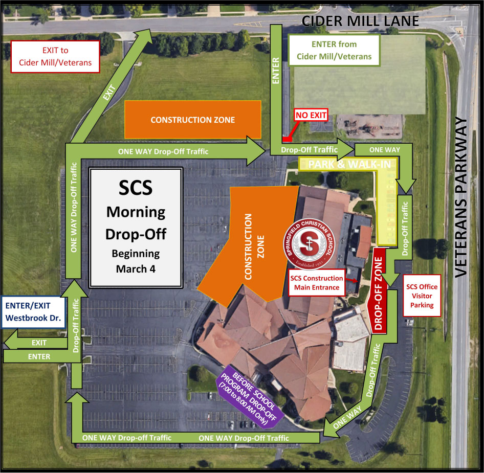 SCS Morning Drop-Off Beginning March 4